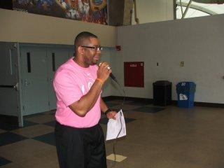 Coach Lowery addressing members