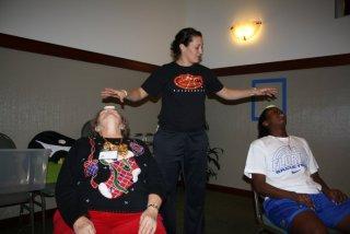 Janna readies Nancy and Jaterra