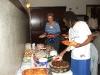 Fran and Lanita inspect desserts