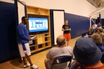 Coach Lowery giving a video clinic